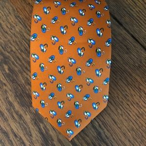 Brooks Brothers Italian Silk Fly Fishing Tie